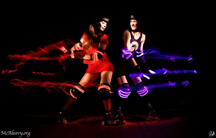 "Blocked - Image Series: <a href=""http://mcaleavy.org/projects/rollergirls/"">Rollergirls</a>"